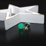 Ohrstecker 925er Sterlingsilber Chrysopras 8mm Top Qualität