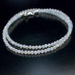 Kette Regenbogen Mondstein Diamond Polished 925er Sterlingsilber