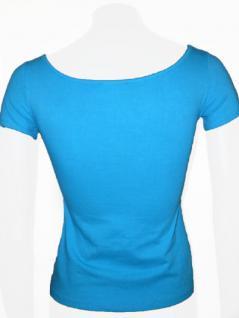 Claude Zana Shirt kurzarm in himmelblau - Vorschau 3