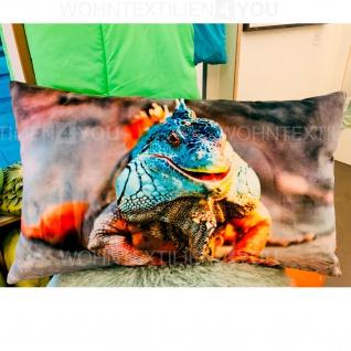 pad Kissenhülle Guana 35 x 60 cm orange aus 100% Polyester-Velour Digitaldruck - Vorschau 3