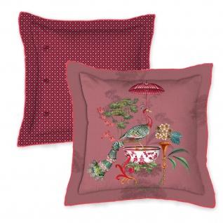 PIP Studio Zierkissen Chinese Porcelain Pink 45 x 45 cm märchenhaftes Motiv