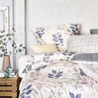 Irisette Jersey Bettwäsche Luna Blätter barista 8053-80 aus 100% Baumwolle