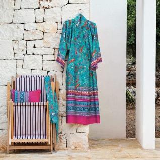 Bassetti Granfoulard Damen-Kimono Burano S1 Türkis Ornamente Baumwollsatin