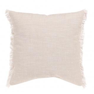 Winkler Kissenhülle JET 45 x 45 cm mit Fransen 100% Baumwolle einfarbig - Vorschau 4