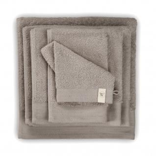 WALRA Frottier Serie Soft Cotton Taupe 100% Baumwolle uni klassisch