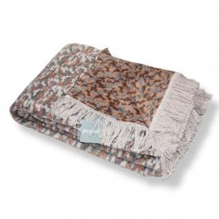 PAD weiche Wohndecke Paul braun 150 x 200 cm Baumwollmischung