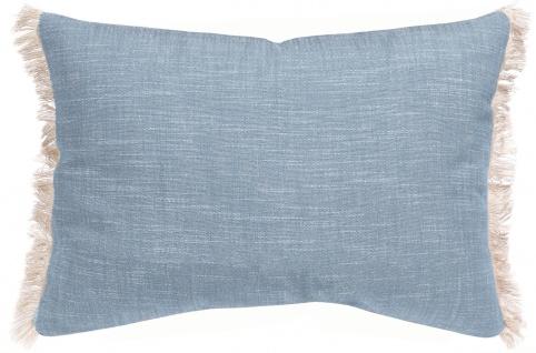 Winkler Kissenhülle JET 30 x 50 cm mit Fransen 100% Baumwolle einfarbig - Vorschau 2