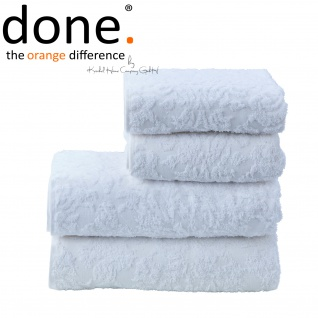 done.® PROVENCE ORNAMENTS Handtuch Set 4-tlg. Bright White