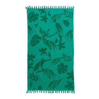 Seahorse Strandlaken Hamam Tropical green 100 x 180 cm Cotton