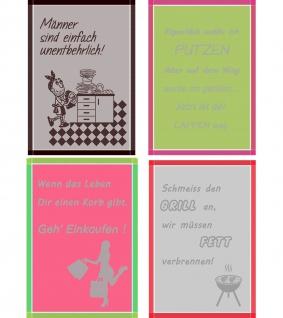 Ross Baumwolle Geschirrtuch 1660 mit Sprüchen für Männer und Frauen 50 x 70 cm