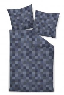 Janine Mako-Satin Bettwäsche 43030-02 Messina blau - Vorschau 1