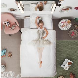 SNURK Kinder-Bettwäsche Ballerina aus 100% Bio-Baumwolle Fotodruck