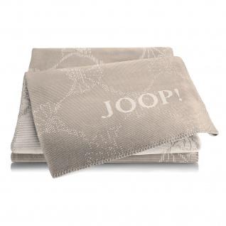 JOOP! Cornflowers Double Wohndecke Palisade-Creme 150 cm x 200 cm Baumwollmischung