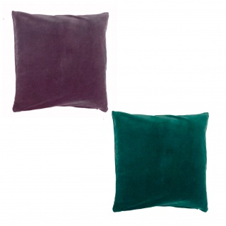 Scantex Kissenhülle Riva 40 x 40 cm 100% Baumwolle-Samt mit RV zwei Farben