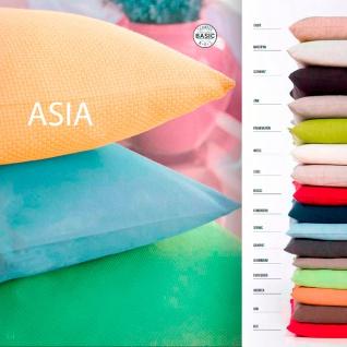 Scantex Kissenhülle ASIA in vielen Größen und Farben grob gewebte Baumwolle
