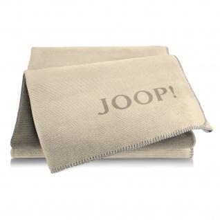 JOOP! Wohndecke Doubleface Melange 150 x 200 cm Cashew-Kastanie Baumwollmischung