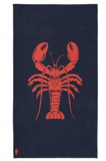 Seahorse Strandtuch Badetuch Lobster Navy 100 x 180 cm 100% Baumwolle