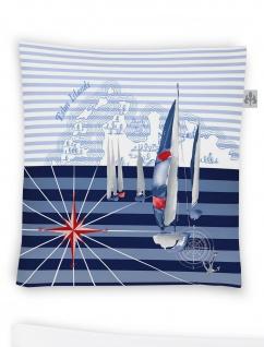 Irisette Zierkissen Jolly 8925-20 marine 45 x 45 cm maritim mit RV und Füllung