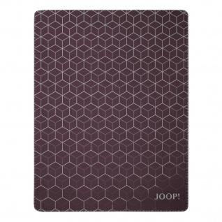 JOOP! Vision Wohndecke Bordeaux-Graphit 150 cm x 200 cm Baumwollmischung