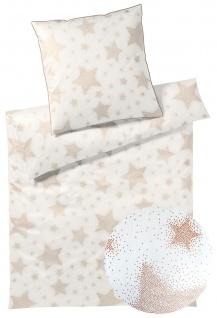 elegante Mako-Satin Bettwäsche Cosmos 2278-0 weißgold Sterne glizernd exklusiv - Vorschau 2
