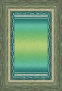 Bassetti Plaid Wohndecke Nabucco V1 grün 135 x 190 cm Ornamente