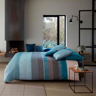 Beddinghouse Baumwollsatin Bettwäsche Bodhi Blue gestreift 100 % Baumwolle