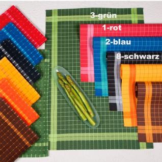Ross Geschirrtuch Karos 50 x 70 cm 100% Baumwolle gewebtes Muster