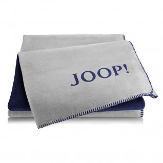 JOOP! Wohndecke Doubleface 150 cm x 200 cm Graphit-Marine Baumwollmischung