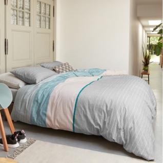 Beddinghouse Bettwäsche CHALK MINT gestreift 100 % Baumwolle helle Pastellfarben