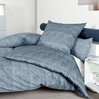 Janine Mako-Satin Bettwäsche Messina blau 43075-02 100% Baumwolle - Vorschau 2