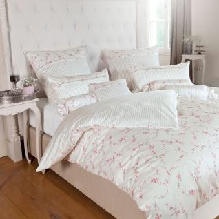 Janine Romantico Bettwäsche Mako-Seidensatin 46009-01 rosa-silber 100% Baumwolle romantisch