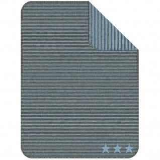 Ibena Jacquard Kinder Kuscheldecke LELU 75 x 100 cm baumwollmischung gestreift mit Sternen - Vorschau 3