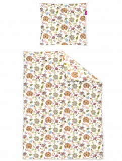 freundin Mako-Satin Bettwäsche Corado 8949-90 bunt florales Muster
