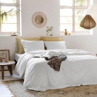 WALRA Bettwäsche The New Vintage white uni 100% Baumwolle User Look
