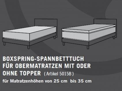 Schlafgut Boxspring Spannbettlaken, Spannbetttuch 180/200-200/220cm - Vorschau 3