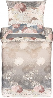 Bassetti Mako-Satin Bettwäsche Madame Butterfly 41 beige Ornamente floral