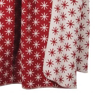 PAD Decke Wohndecke STELLA RED 150 x 200 cm Baumwollmischung Eiskristalle - Vorschau 2