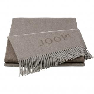JOOP! Wolle-Kaschmir Plaid Fine Doubleface Sand-Taupe 130 x 180 cm exklusiv