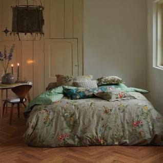 PiP Studio Perkal Bettwäsche Fall in Leaf Khaki aus 100% Baumwolle Blumenmotiv