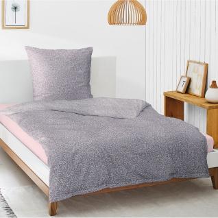 Irisette Mako-Satin Bettwäsche Carat-K 8887-70 mauve Digitaldruck 100% Baumwolle