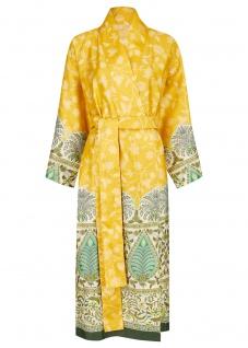 Bassetti Granfoulard Damen-Kimono Barisanon I1 gelb Ornamente 100% Baumwolle
