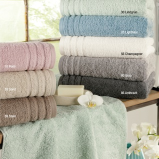 Ross Frottee Handtuch oder Duschtuch RAINBOW in pastell Farben