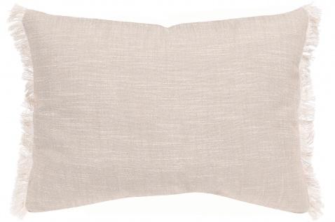 Winkler Kissenhülle JET 30 x 50 cm mit Fransen 100% Baumwolle einfarbig - Vorschau 4