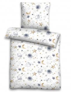 Biberna Biber Bettwäsche für Babys und Kinder Universum 100% Baumwolle wärmend