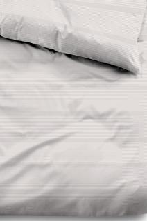 Tom Tailor Baumwollsatin Bettwäsche 69935-839 taupe aus 100% Baumwolle Streifen - Vorschau 2