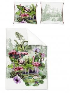 Irisette Mako-Satin Bettwäsche Juwel-K 8894-90 tropical Digitaldruck Wendeoptik