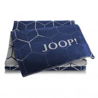 JOOP! Vision Wohndecke Marine-Graphit 150 cm x 200 cm Baumwollmischung