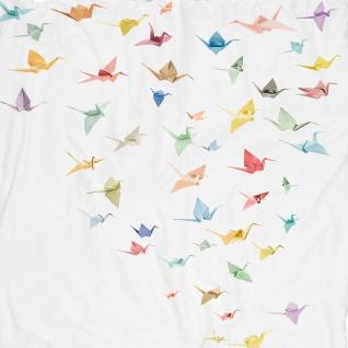 SNURK Bio-Bettwäsche Crane Birds weiß Kraniche Digitaldruck 135 x 200 cm - Vorschau 3