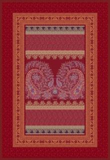 Bassetti Plaid Wohndecke Recanati R1 Rot 135 x 190 cm Ornamente gesteppt Italien