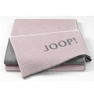 JOOP! Wohndecke Uni-Doubleface Rose-Graphit 150 x 200 cm aus Baumwollmischung